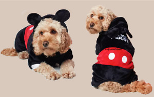 PRIMARK DISNEY~MICKEY MOUSE ❤️DOG/PET OUTFIT/ COAT Small New 💛🖤