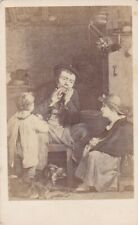 ANTIQUE CDV PHOTO - THE JEWS HARP BY DAVID WILKIE