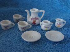Vintage Porcelain Strombecker Barbie Dollhouse Miniature Tea Set Partial