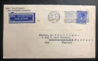1935 The Hague Netherlands Airmail Cover To Newport England INAPRESS Seal