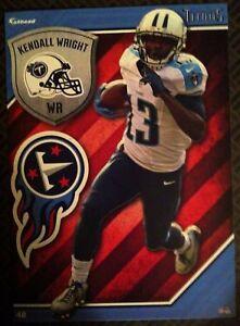 2015 NFL Football Fathead Vinyl Decal/Sticker Kendall Wright Tennessee Titans