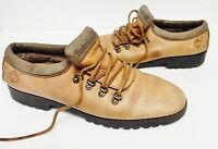 Timberland Women's Leather Shoes Oxford Lace Up 2-Tone 59376 Brown Italy 10 M
