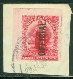 New Zealand. 1907. Official. 1d. Zealandia.Ex Booklet. U.