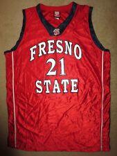 Fresno State Bulldogs #21 Basketball Team Game Worn Ncaa Jersey 46