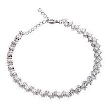 with Cubic Zirconia stones - Nava Lobster clasp tennis Bracelet - Silver