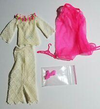 Vintage 1970 BARBIE Doll THE LACE CAPER Outfit + Hanger, Shoes