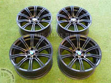 "GENUINE BMW M3 E90/2/3 19""INCH 220M SPORT 10 SPOKE SATIN BLACK ALLOY WHEELS X4"