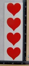Mrs Grossman Love RED HEART LARGE Stickers VALENTINE CUPID VINTAGE