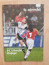 Programme / Programma FC Utrecht v Dnjepr 4-11-2004 UEFA Cup