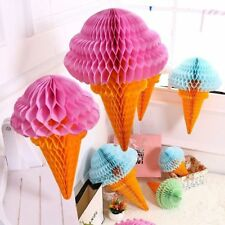 Ice Cream Tissue Paper Hanging Honeycomb Balls Wedding Birthday Party decor