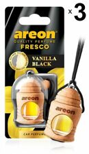 x 3 Areon Fresco VAINILLA Coche Negro AROMA PERFUME Ambientador perfume aroma