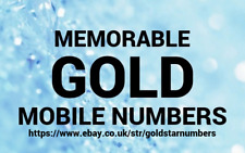 EASY MEMORABLE + GOLD MOBILE NUMBERS PAY AS YOU GO SIM CARD O2 VODAFONE EE THREE