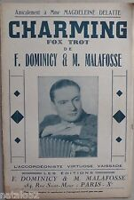 partition CHARMING - accordéon orchestre - Dominicy Malafosse Vaissade