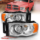 2002 2003 2004 2005 Dodge Ram 1500 2500 3500 Factory Style Chrome Headlights