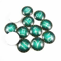 Multiple Option Green Tone Glass Constellation Cameo Cabochons Jewelry Findings