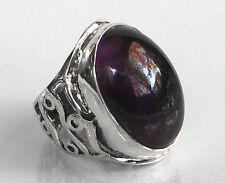 925 ECHT SILBER *** Großer Amethyst Ring,  Gr. 53 (17)
