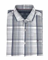 NWT Tommy Hilfiger New York Fit Short Sleeve Gray Shirt (Select Size)