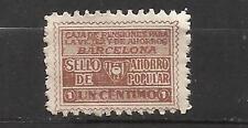 8359-SELLO FISCAL 1930 CAJA PENSIONES VEJEZ AHORRO BARCELONA 1 CENTIMO.ANTIGUO S
