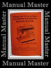 Jones Brother VX855 & VX860 ZigZag Sewing Machine Instruction Manual Booklet