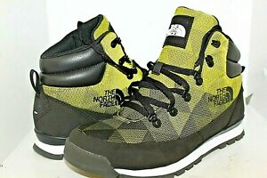 NEW MENS THE NORTH FACE BACK TO BERKELEY REDUX AVERY BLACK/YELLOW BOOTS SZ. 11.5