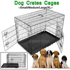 S/M/L/XL Pieghevole Metal Gabbia Trasportino Animali Gabbie Per Cuccioli Cane