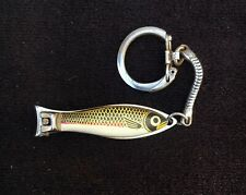 Super Duper No. 475 Fish Lure Fingernail Clipper Keychain w/ File Japan-Vintage