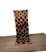 Teppich Hallway Vintage Carpet Kilim Boucherouite Handmade Area Runner