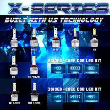 100W 10000LM CREE COB LED Motorcycle Headlight Kit Bulb or Bulbs 6000K White (C)
