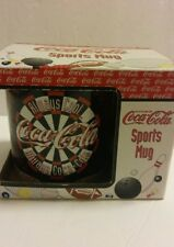 "NIB Coca Cola Ceramic Sports Mug 1997 DARTS ""Enesco"" #343447 L@@K!!! Collectible"