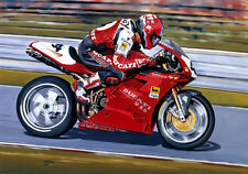 Carl Fogarty Ducati 916 Moto Motocicletta RACING COMPLEANNO padri Giorno CARD