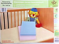 BIO NATURE Kleinkinder Jersey Spannbetttuch 70 x 140 cm, Beige DAN19