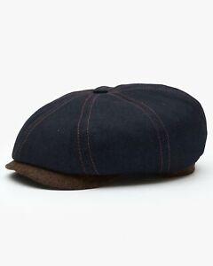 Stetson Hatteras Denim Cap - Dark Blue / Tweed