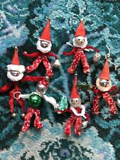 Vintage Christmas Mercury Glass Pipe Cleaner Xmas Decorations Rare