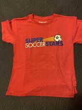 Super Soccer Stars Red T-Shirt Youth M Sz 6/8