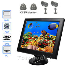 "12"" TFT LCD PC CCTV Monitor DVR Video Display Screen VGA/HDMI/AV/BNC w/Speaker"