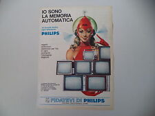 advertising Pubblicità 1967 TELEVISORE PHILIPS 11 19 23 25 POLLICI