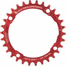 Wolf Tooth Components Drop-Stop 30T Chainring: 4 x 104 BCD, Red