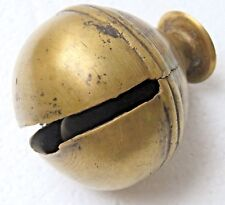 Antique Bell inside Clapper ball Cow neck tag differ sound India finger hold top