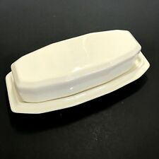 Pfaltzgraff Heritage Butter Dish Ivory Off White Covered 1/4 lb Full Stick USA