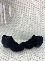 BLONDO 'VALLI' Black Suede Side Zip Waterproof Ankle Boots Women's Size 7 W
