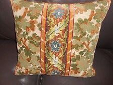 Clarence House Throw pillow cut velvet VELOURS IRELANDE in VERT custom new ONE