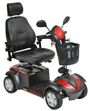 "Drive Medical Ventura Deluxe 4 Wheel Scooter, 18"" Captain's Seat"