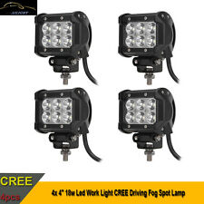 """4x 4"""" 18w Led Work Light CREE Driving Fog Spot Lamp 12V 24V Offroad 4WD Jeep UTE"""