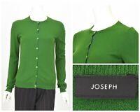 Womens JOSEPH 100% Cashmere Cardigan Jumper Green Soft Size M