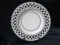 Antique RETICULATED PORCELAIN CENTER BOWL - BEEHIVE SHIELD MARK