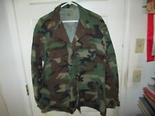 US Army Woodland Camo BDU Officer Special Forces Combat Jacket Large Regular