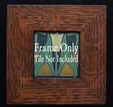 4x4 Arts & Crafts Mitered Oak Tile Frame, Motawi, Grueby, Batchelder, Pewabic