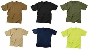 Polyester Cotton Blend Military Solid Color T-Shirts Tees Tee Shirts