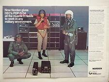 12/76 PUB UNITED TECHNOLOGIES NORDEN PDP-11/34M DEC MINICOMPUTER PILOT HELMET AD