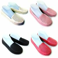 Women's Loafers Flats Jelly Hollow Slip On Casual Sandals Shoes Colors Size:5-10